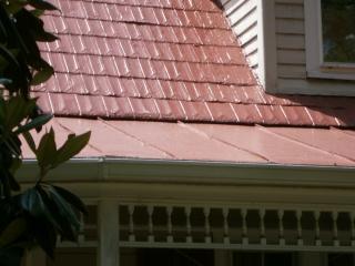 Red Shingle Roof Carolina Embossed Gem